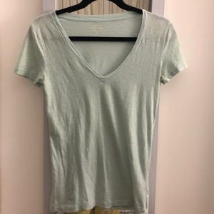 J Crew teal V-neck T-shirt, XS